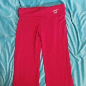 Hollister fold over leggings boot cut look at back